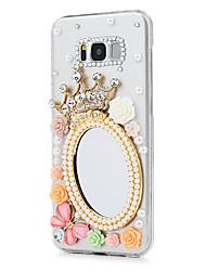 Недорогие -Кейс для Назначение SSamsung Galaxy S8 Plus S8 Стразы Кейс на заднюю панель Бабочка Цветы Твердый ПК для S8 Plus S8 S7 edge S7
