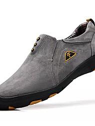Muškarci Cipele Svinjska koža Proljeće Jesen Udobne cipele Atletičarke tenisice Planinarenje za Vanjski Dark Blue Sive boje Žutomrk