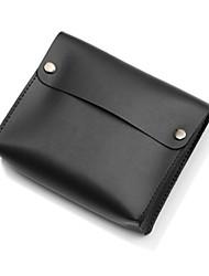 abordables -Bolsa para Color sólido Cuero de PU Adaptador de corriente Memoria USB Batería Disco duro Auriculares
