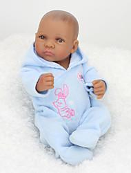 Недорогие -NPKCOLLECTION Куклы реборн Дети Африканская кукла 12 дюймовый Полный силикон для тела Силикон Винил - как живой Милый стиль Ручная работа Безопасно для детей Non Toxic Милый Детские Девочки Игрушки