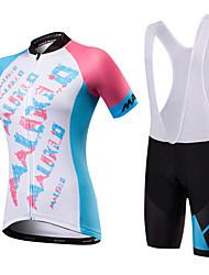 Недорогие -Malciklo Велокофты и велошорты-комбинезоны Жен. Универсальные С короткими рукавами Велоспорт Биб Колготки Джерси Одежда для велоспорта