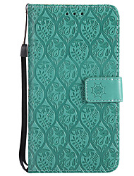 cheap -Case For Huawei P8 Lite (2017) P10 Lite Card Holder Wallet with Stand Flip Pattern Full Body Cases Solid Color Lace Printing Hard PU