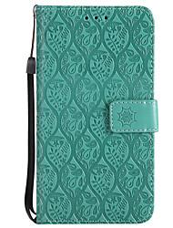 baratos -Capinha Para Huawei P10 Lite / P8 Lite (2017) Carteira / Porta-Cartão / Com Suporte Capa Proteção Completa Sólido Rígida PU Leather para P10 Lite / P10 / P8 Lite (2017)