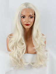 cheap -Synthetic Lace Front Wig Natural Wave Synthetic Hair African American Wig White Wig 20-40inch Lace Front Wig
