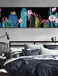 cheap -Landscape Floral/Botanical Illustration Wall Art,Plastic Material With Frame For Home Decoration Frame Art Living Room