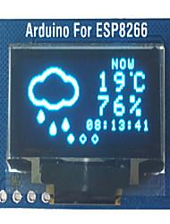 cheap -esp8266 driven oled arduino development board wifi world clock oled weather forecast display