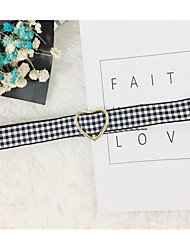 Недорогие -Жен. Круглый форма Простой Ожерелья-бархатки , Ткань Ожерелья-бархатки Подарок