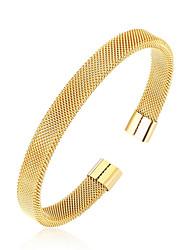 preiswerte -Herrn Armreife - Rostfrei Armbänder Schwarz / Silber / Rotgold Für Alltag Ausgehen
