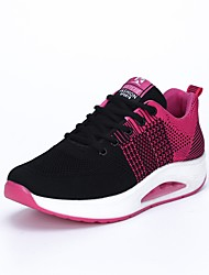 abordables -Mujer Zapatos Punto Primavera / Verano / Otoño Confort Zapatillas de deporte Paseo Media plataforma Gris / Morado / Fucsia