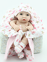 cheap -NPK DOLL Reborn Doll Baby 12 inch Full Body Silicone / Silicone / Vinyl - lifelike, Hand Applied Eyelashes, Tipped and Sealed Nails Kid's Girls' Gift / CE Certified / Natural Skin Tone / Floppy Head