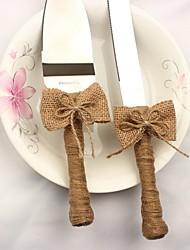 Недорогие -Лён/Хлопок металл Свадьба День рождения 1 комплект/цветная коробка Сервировочные наборы