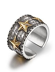 preiswerte -Herrn Cool Stulpring / Bandring - Kreisform Freizeit Silber Ring Für Alltag / Formal
