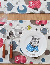 abordables -Motifs Lin/coton Carré Sets de table Décorations de table