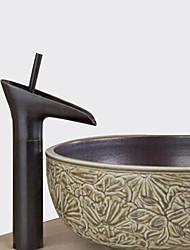 baratos -Tradicional Conjunto Central Cascata Válvula Cerâmica Uma Abertura Monocomando e Uma Abertura Bronze Polido a Óleo, Torneira pia do