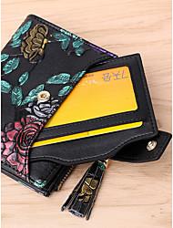 cheap -Women's Bags Cowhide Wallet Zipper Silver / Rainbow
