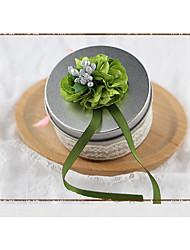 abordables -Circulaire Acier (nicket plaqué) Titulaire de Faveur avec Châssis / rubans Boîtes à cadeaux - 1pc