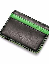 cheap -Men's Bags PU Coin Purse Tiered for Casual All Seasons Green Black Orange Coffee Brown