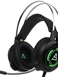 cheap -Supsoo G815 Headband Wired Headphones Dynamic Plastic Gaming Earphone with Microphone Headset