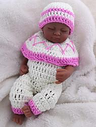 billige -NPK DOLL Reborn-dukker Babypiger 10 inch Fuld krops silicone / Silikone / Vinyl - livagtige, Hånd Anvendte Øjenvipper, Tippede og forseglede negle Børne Pige Gave / CE / Naturlig hudfarve