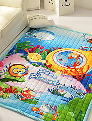 cheap -Creative Cartoon Cotton/Polyester Blend, Superior Quality Rectangular Anime Floral Print Rug