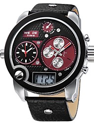 Недорогие -WEIDE Муж. Кварцевый Наручные часы Японский Защита от влаги Крупный циферблат Повседневные часы С тремя часовыми поясами С двумя часовыми
