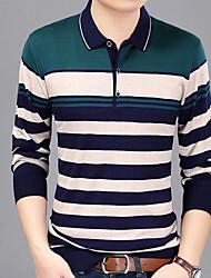 Majica s rukavima Muškarci Prugasti uzorak Kragna košulje