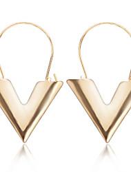 baratos -Mulheres Letra Brincos Compridos - Fashion / Europeu Dourado / Prata Brincos Para Diário
