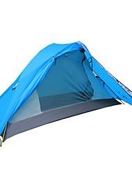 baratos -2 Pessoas Acessórios de Tenda Dupla Camada Barraca de acampamento Ao ar livre Tenda Dobrada Prova-de-Água / A Prova de Vento / Respirável