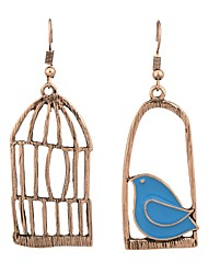 cheap -Women's Mismatched Drop Earrings - Bird, Birdcage Gold / Silver For Daily / Date