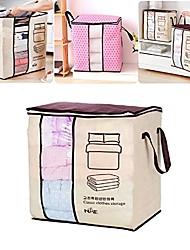 preiswerte -46x51x28cm Bambuskohle Vlies Quilts Tasche tragbare große Größe Aufbewahrungsbox mit Fenster