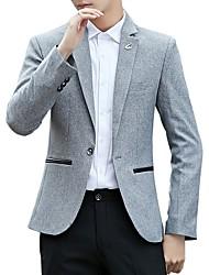 cheap -Men's Business Casual Slim Blazer-Solid Colored,Basic Notch Lapel