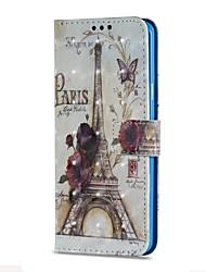 preiswerte -Hülle Für Samsung Galaxy S9 S9 Plus Kreditkartenfächer Geldbeutel mit Halterung Flipbare Hülle Magnetisch Ganzkörper-Gehäuse Eiffelturm