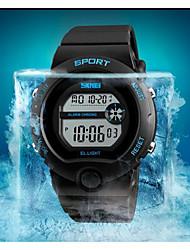 Недорогие -SKMEI Наручные часы Цифровой Черный 50 m Защита от влаги Календарь Хронометр Цифровой На каждый день Мода - Черный Синий / Фосфоресцирующий
