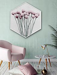 cheap -Botanical Floral/Botanical Illustration Wall Art,Plastic Material With Frame For Home Decoration Frame Art Living Room Indoor