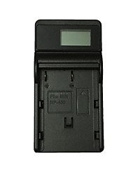 abordables -ismartdigi np400 lcd usb camera battery charger para minolta np-400 battery