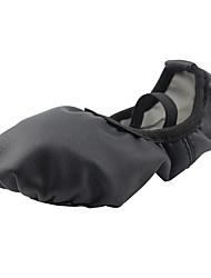 baratos -Sapatilhas de Balé Courino Sapatilha Sem Salto Personalizável Sapatos de Dança Preto / Ensaio / Prática