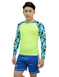 cheap -Bluedive Men's Diving Rash Guard SPF50, UV Sun Protection, Quick Dry Tactel Long Sleeve Swimwear Beach Wear Sun Shirt / Top Stripe Yoga / Swimming / Diving / High Elasticity