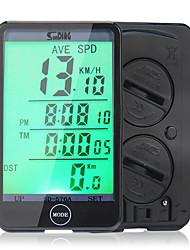 baratos -SunDing SD-576A Computador de Bicicleta Cronómetro Prova-de-Água DST - Distância de Trajecto LCD Velocímetro Cabeada Hodômetro Relógio
