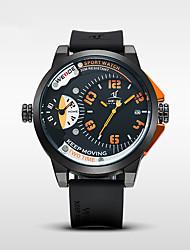 Недорогие -WEIDE Муж. Кварцевый Спортивные часы Японский Календарь Крупный циферблат Повседневные часы С двумя часовыми поясами силиконовый Группа