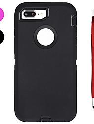 abordables -Coque Pour Apple iPhone X iPhone 8 Plus Antichoc Eau / saleté+D4731 / antichoc Avec Ouverture Coque Intégrale Couleur unie Flexible