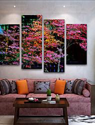 baratos -Estampados de Lonas Esticada Modern, 4 Painéis Tela de pintura Vertical Estampado Decoração de Parede Decoração para casa