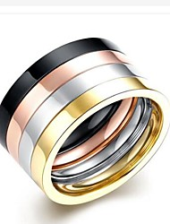 cheap -Men's Band Ring - Stainless Steel Fashion 7 / 8 / 9 Rainbow For Gift / Daily