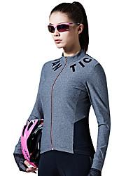 cheap -SANTIC Women's Long Sleeve Cycling Jersey - Gray Fashion Bike Jersey Top Spring Summer, Terylene / Advanced Sewing Techniques