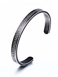 Недорогие -Муж. Браслет цельное кольцо - Нержавеющая сталь Хип-хоп Браслеты Черный Назначение Повседневные