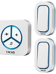 Недорогие -Дзынь-дзынь Музыка Двойной к одному дверному звонку Регулируемый звук Беспроводное дверной звонок 280 Крепеж на поверхности