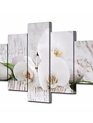 abordables -Impressions sur toile roulées Contemporain, Cinq Panneaux Toile Carré Imprimé Décoration murale Décoration d'intérieur