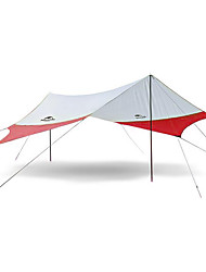 cheap -4 person Camping Shelter Single Poled Camping Tent Outdoor Rain-Proof, Mountaineering, UV Protection for Camping / Hiking >3000 mm Terylene 520*460 cm