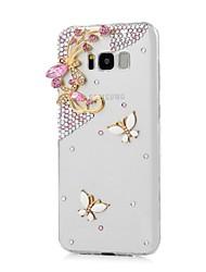 Недорогие -Кейс для Назначение SSamsung Galaxy Стразы Кейс на заднюю панель Бабочка Твердый ПК для S8 Plus S8 S7 edge S7