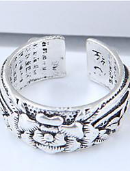 preiswerte -Damen Aleación Blume Bandring - Retro / Modisch / Europäisch Silber Ring Für Alltag