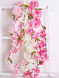 cheap -Artificial Flowers 1 Branch Wedding / European Sakura Wall Flower